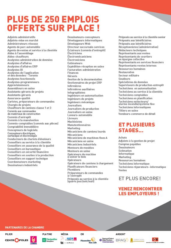 Poster Salon des entreprises_Liste emplois