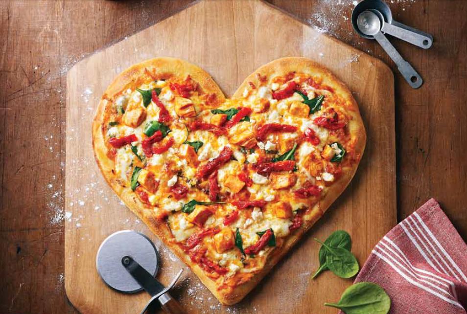Pizza coeur Boston Pizza