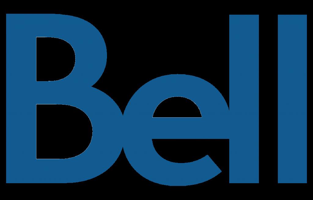 Logo Bell beu sur fond transparent