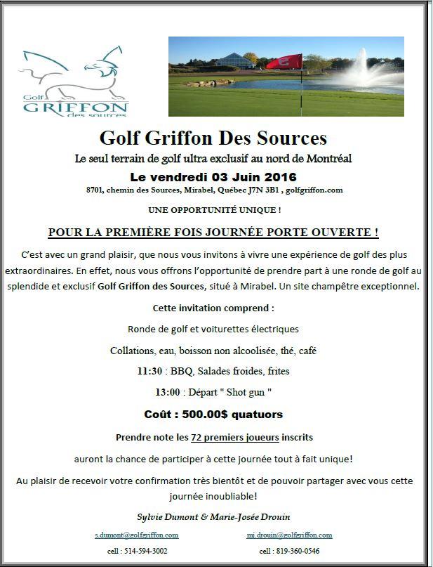 Portes ouvertes - Golf Griffon Des Sources