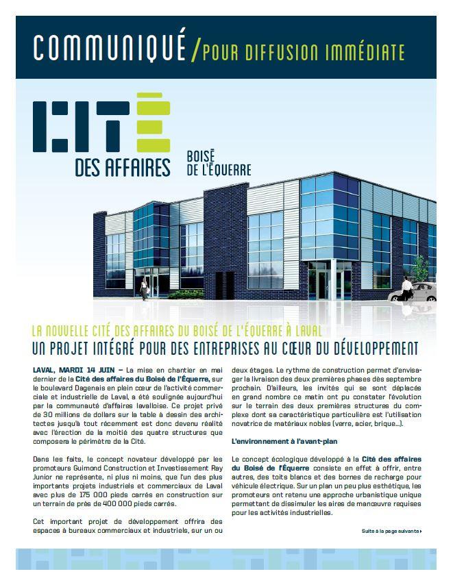 Lancement Cité des Affaires