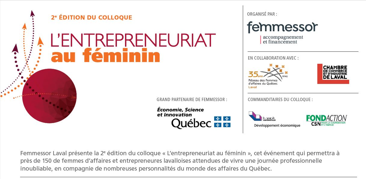 Colloque l entrepreneuriat au f minin 2e dition for Chambre de commerce et d industrie de laval