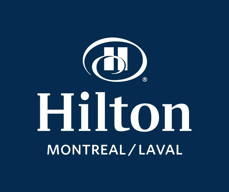 Hilton blanc sur bleu