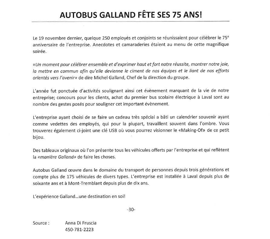 communiqué galland