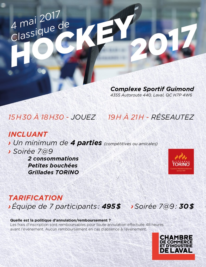 Classique de hockey 2017 chambre de commerce et d for Chambre de commerce et d industrie de laval