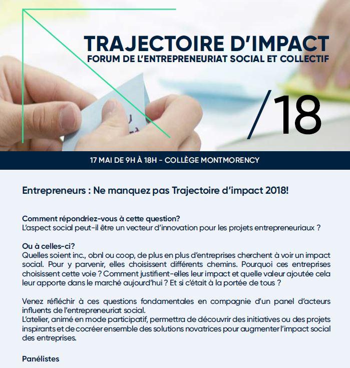 trajectoire impact