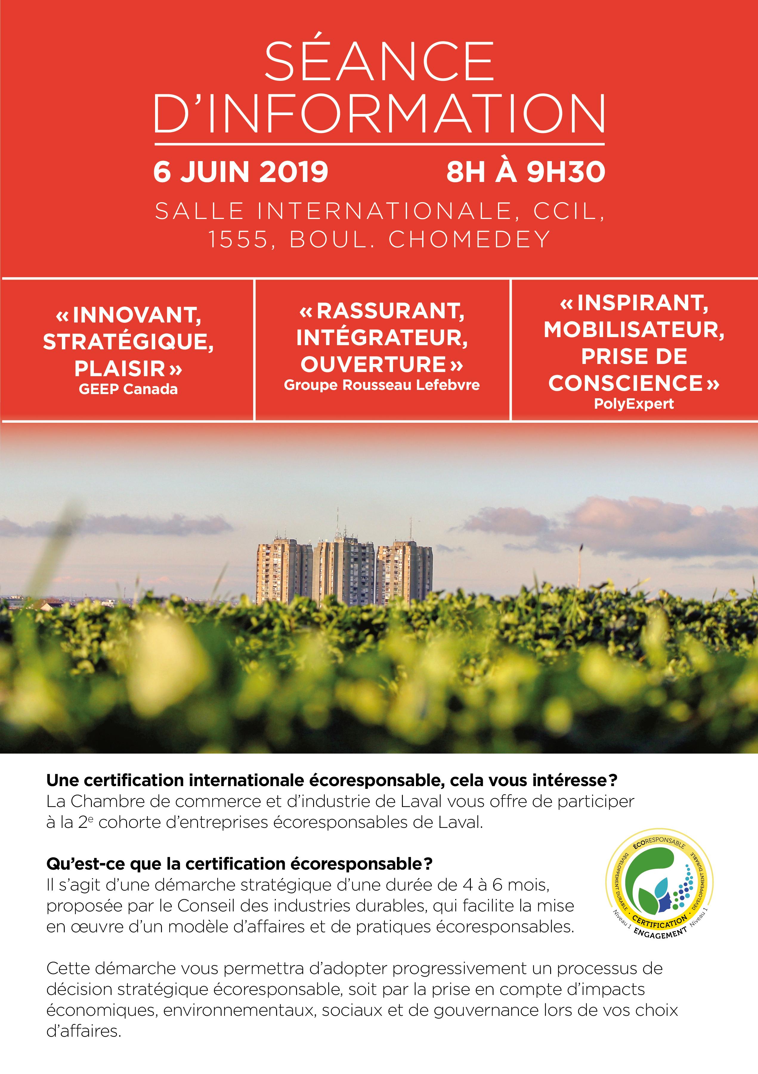 S ance d information gratuite certification - Chambre internationale de commerce ...