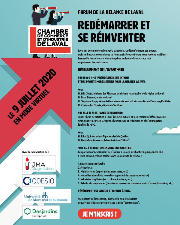 Le forum de la relance de Laval de la CCILaval