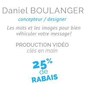 Daniel Boulanger, production vidéo
